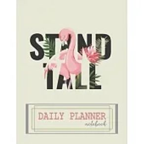 Notebook Daily planner notebook with cute cover and daily planner pages, Extra large 8.5 x 11 inches, 110 pages, planner note