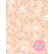 Sketch Book: Pretty Note Pad for Drawing, Writing, Painting, Sketching or Doodling - Art Supplies for Kids, Boys, Girls, Teens Who