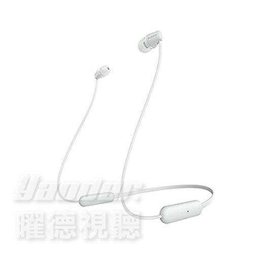 【曜德】SONY WI-C200 白色 無線藍牙入耳式耳機 續航力15H / 送絨布套