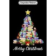 Composition Notebook: Books Christmas Tree Gift For Librarian Nerd Journal/Notebook Blank Lined Ruled 6x9 100 Pages
