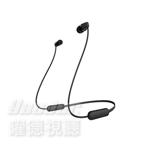 【曜德 預購】SONY WI-C200 黑色 無線藍牙入耳式耳機 續航力15H / 絨布套